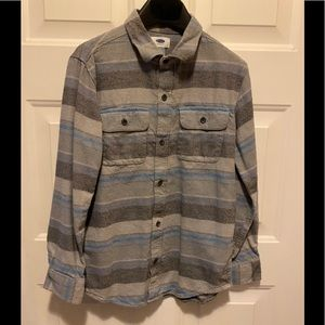 Boys Old Navy long Sleeved Flannel Shirt 10/12